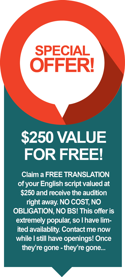 Spanish Voice Over Offer